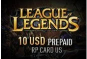 League of Legends 10 USD Prepaid RP Card US